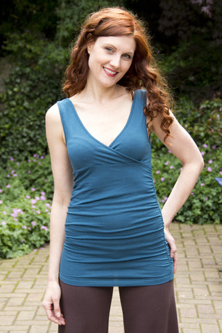 Malina Tank in eco bamboo in Teal