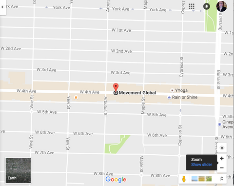Google map of Movement Global Bamboo clothing location