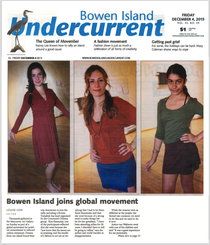 Bowen Island Undercurrent For Movement Global Fashion Show