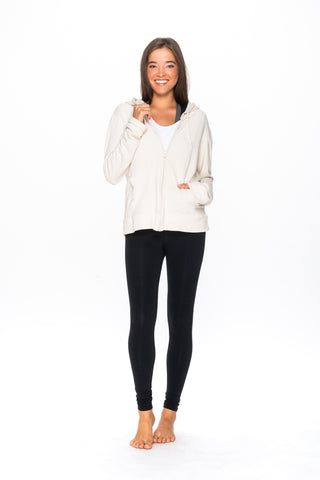 WJF1 Zoe Zip Hoodie in Organic Cotton & Bamboo Fleece