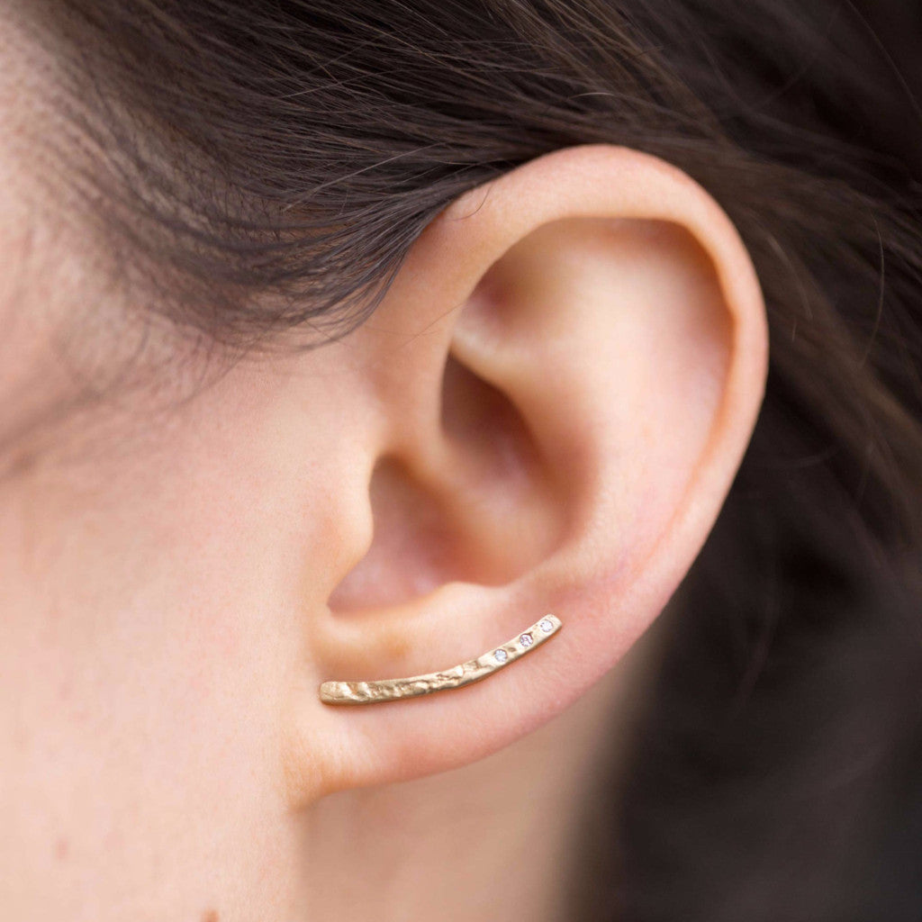 Collette Ear Climber with Diamonds
