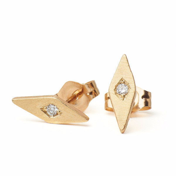 Inez Studs with diamonds