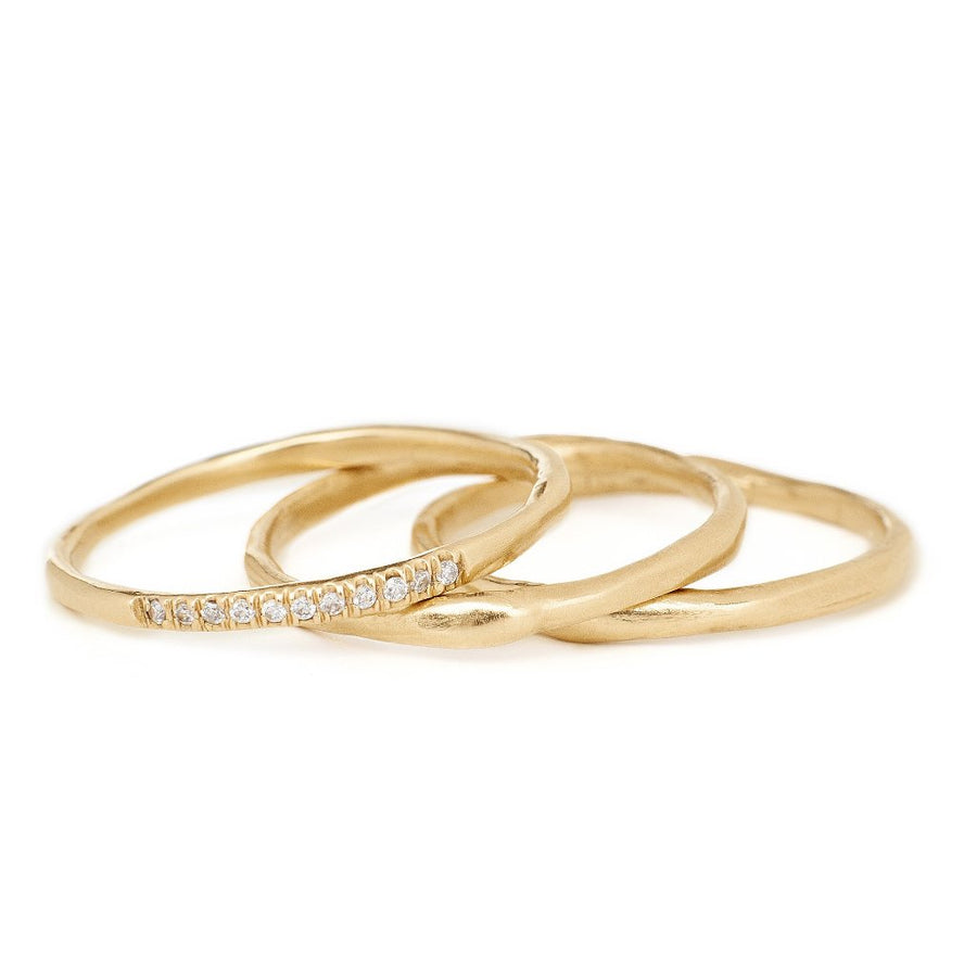 1.5mm gold handmade band. Stacking ring 14kt gold