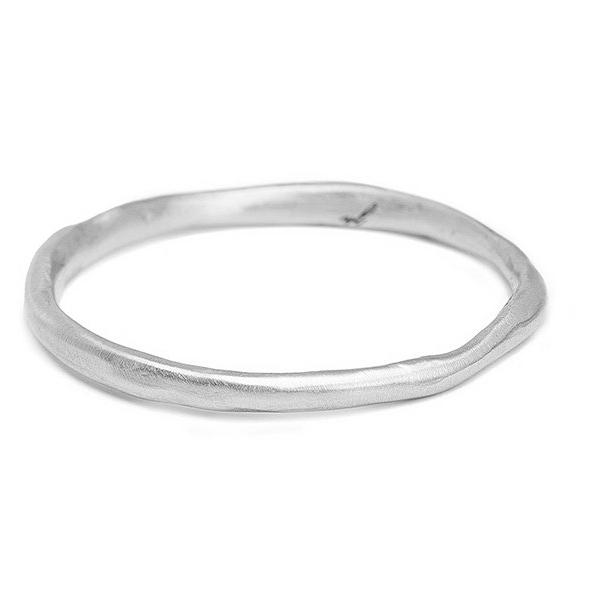 14kt white gold 1.5mm simple band, wedding ring or perfect stacking ring