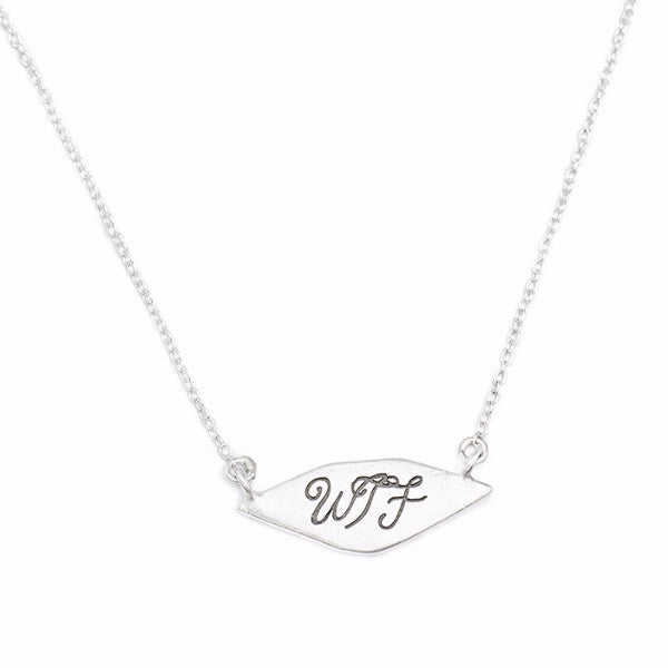 Signet Necklace 'WTF'