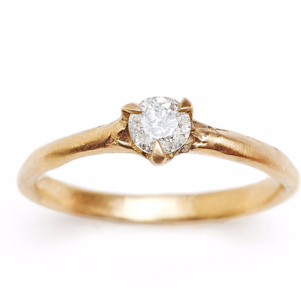 Sustainable diamond engagment ring made in Brooklyn NY