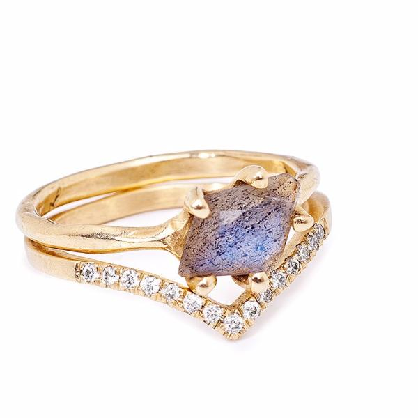 Sloan Ring with Labradorite