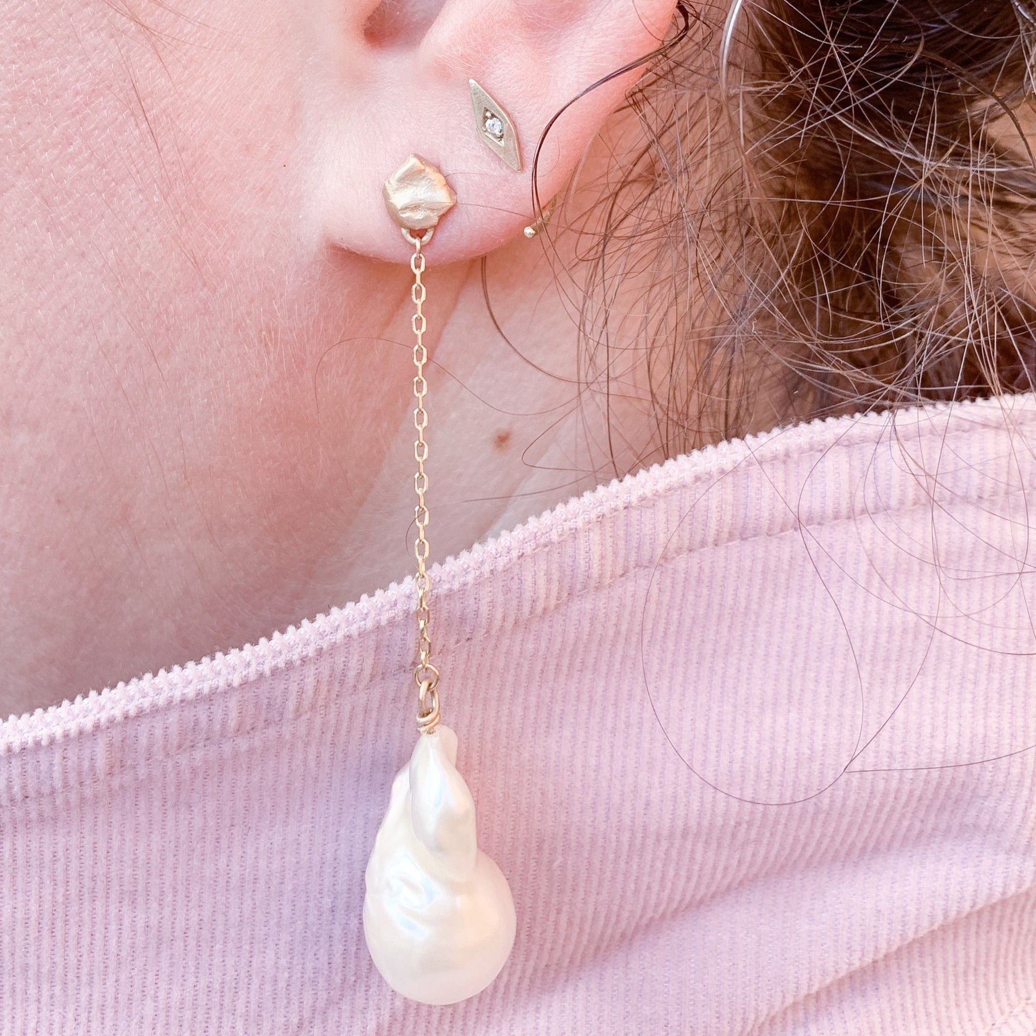 Delphine Pearl Earrings