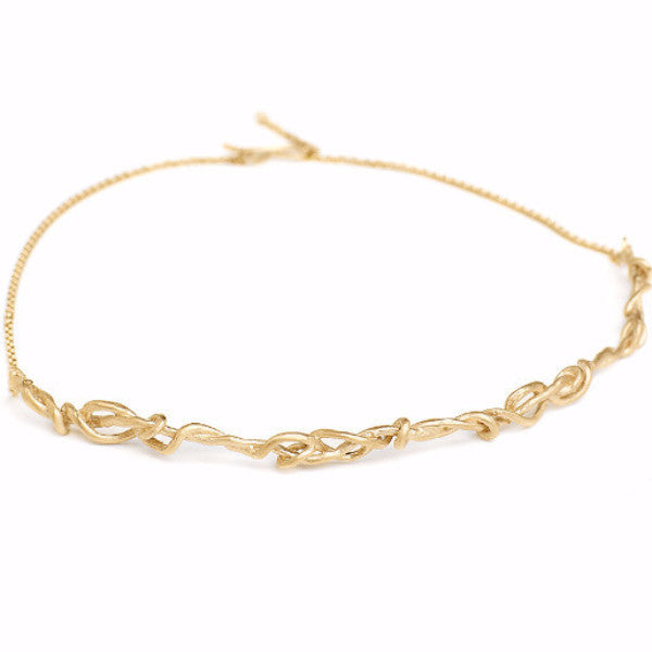 gold choker, Choker necklace, delicate choker necklace, barbed wire necklace, delicate aromor