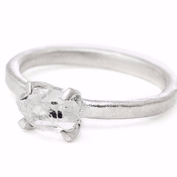 Sloan Ring Herkimer Diamond Silver