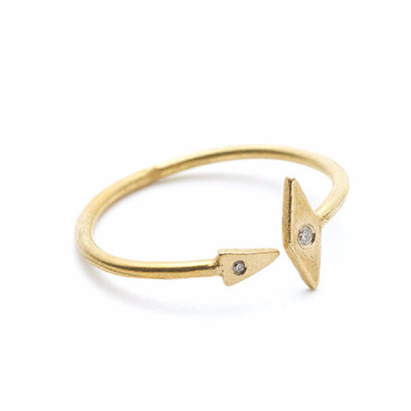 Inez Arrow Ring with Diamonds
