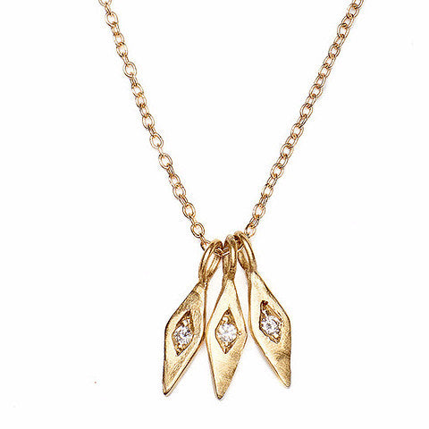 Inez Necklace with Diamonds