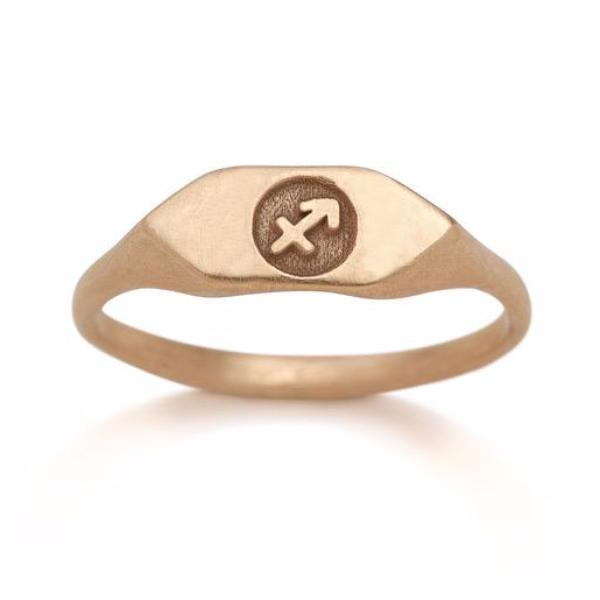 zodiac sign jewelry custom horoscope signet rings 14kt gold
