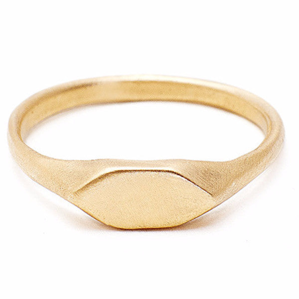 Custom Gold  Signet Ring