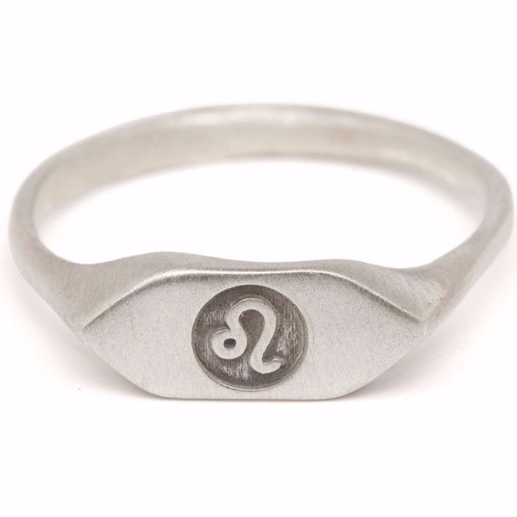 zodiac signet ring Leo horoscope sign ring