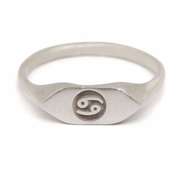 zodiac signet ring cancer horoscope sign ring