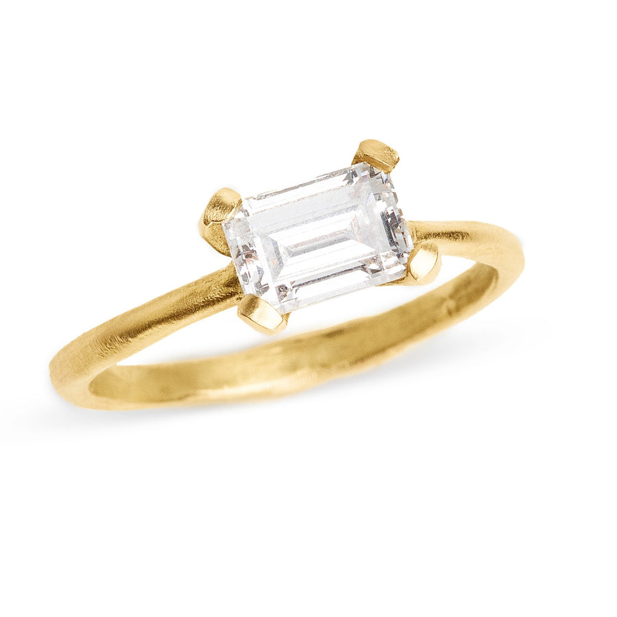 Step Cut Diamond Sloan Ring