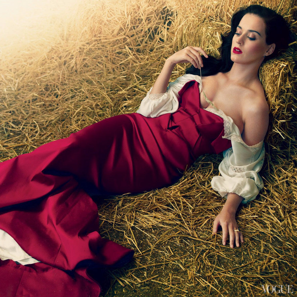 Ruby Snake ring worn by Katy Perry featured in Vogue Magazine