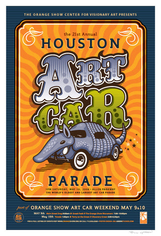 Houston Art Car Parade Poster