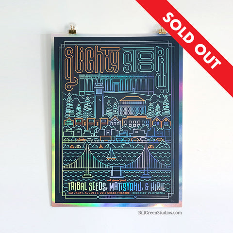 Slightly Stoopid - Berkeley 2019 FOIL Poster