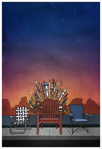 Game of Chairs Art Print