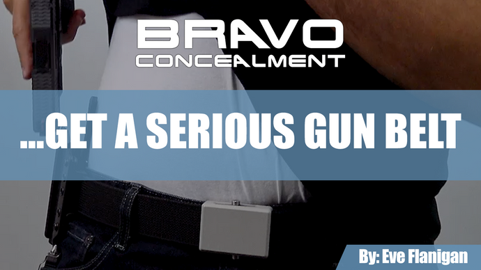 Serious about concealed carry? Get a serious gun belt.