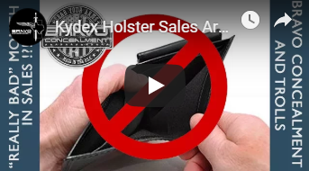 "Kydex Holster Sales Are ""Really Bad""! Conclusive - Haters pt. 2"