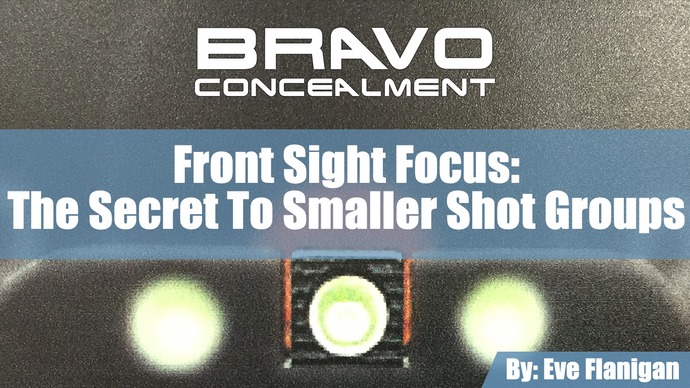 Front sight focus:  the secret to smaller shot groups