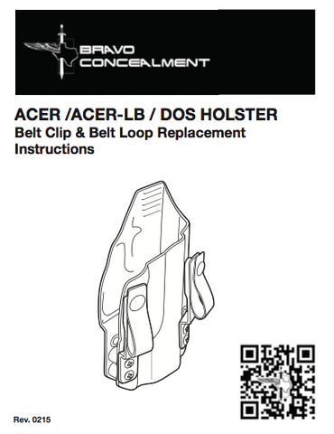 bravo concealment iwb dos holster manual