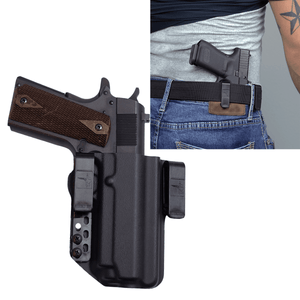 "1911 Night Hawk 4.25"" (rail) IWB Kydex Gun Holster - Bravo Concealment"
