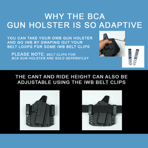 BCA Light Bearing OWB Kydex Gun Holster + FREE Mag Pouch - Bravo Concealment