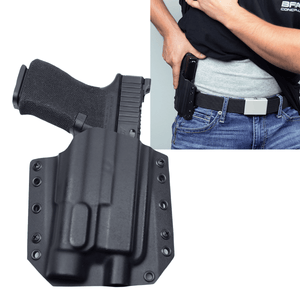 Glock 19X Streamlight TLR-1s BCA OWB Kydex Gun Holster - Bravo Concealment