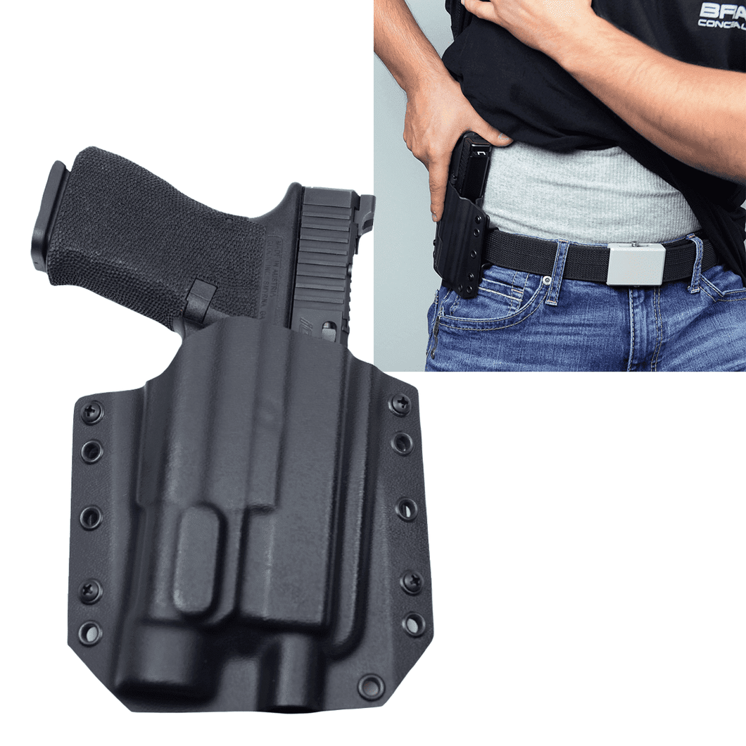 Glock 19 MOS Streamlight TLR-1s BCA OWB Kydex Gun Holster - Bravo Concealment