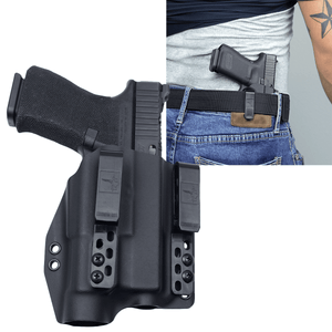 Glock 19 / TLR-1s Light Bearing IWB Kydex Gun Holster - Bravo Concealment