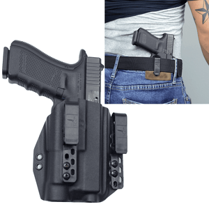 Glock 17 / TLR-1s Light Bearing IWB Kydex Gun Holster + Free Mag Pouch - Bravo Concealment