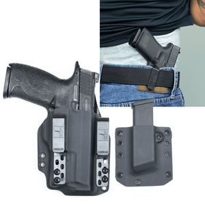 "S&W M&P 9 (4.25"") Surefire XC1 DOS-Light Bearing IWB Kydex Gun Holster Combo"
