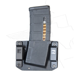 Back View AR-15 M4 Magazine Pouch - Bravo Concealment