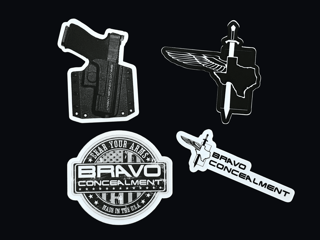 Stickers - 4 pack - Bravo Concealment