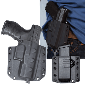 Walther PPQ M2 Sub Compact 9mm BCA OWB Kydex Gun Holster Combo
