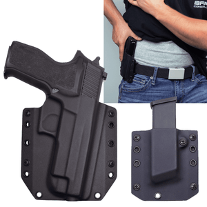 Sig Sauer P226 Stainless Elite 9mm BCA OWB Kydex Gun Holster Combo