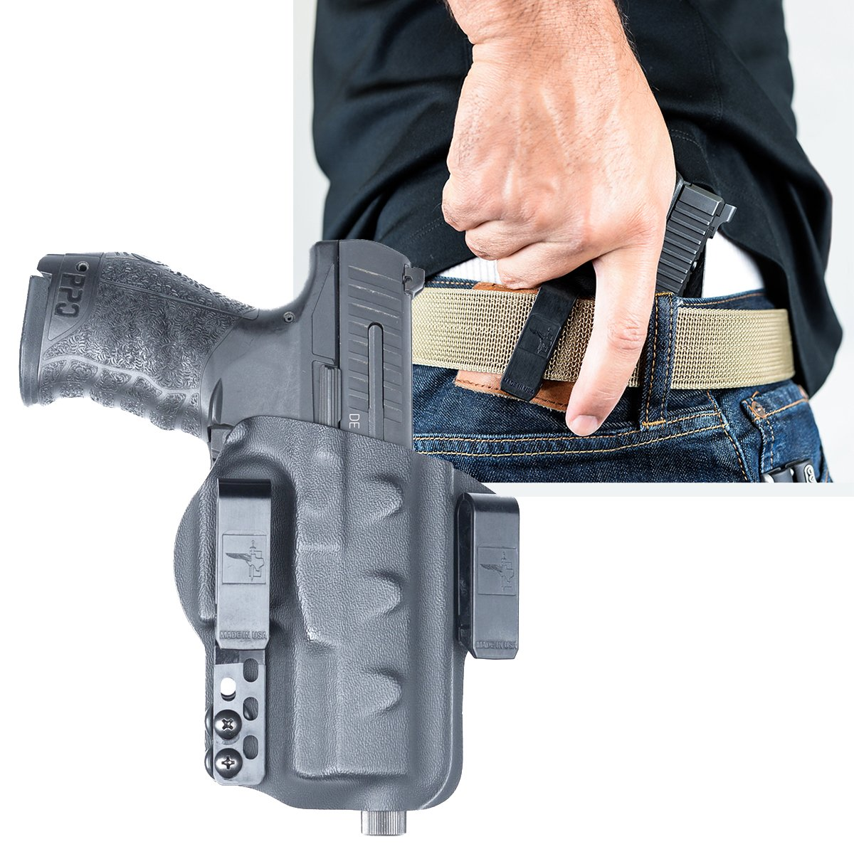 Walther PPQ M2 9mm IWB Kydex Gun Holster + Free Mag Pouch