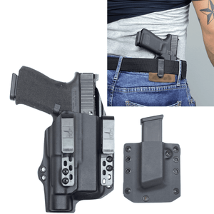 Glock 19X Streamlight TLR-1s DOS-Light Bearing IWB Kydex Gun Holster Combo - Bravo Concealment