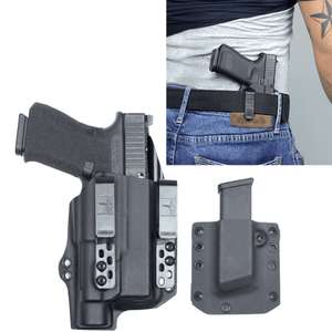Glock 45 Streamlight TLR-1s DOS-Light Bearing IWB Kydex Gun Holster Combo - Bravo Concealment