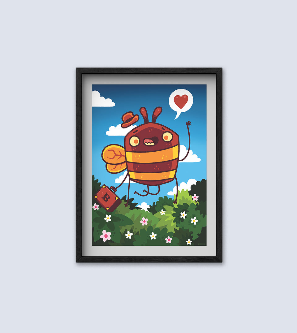 Bee in the City Limited Edition A3 Print