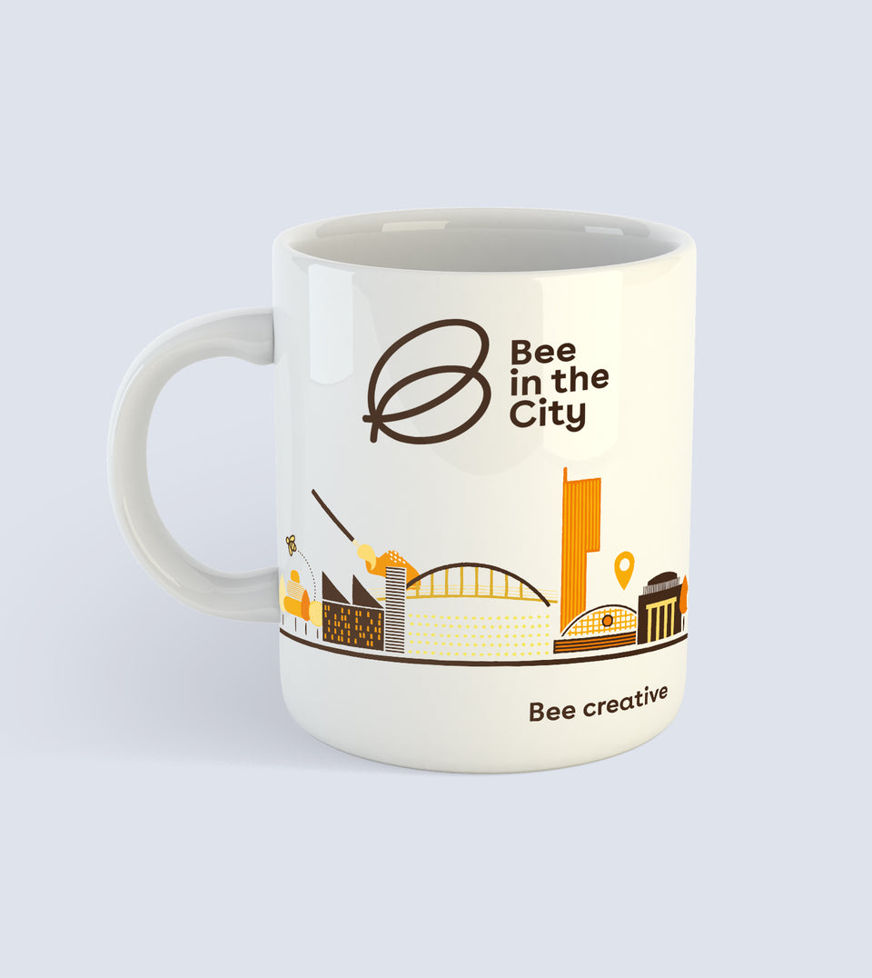 Bee in the City Mug White