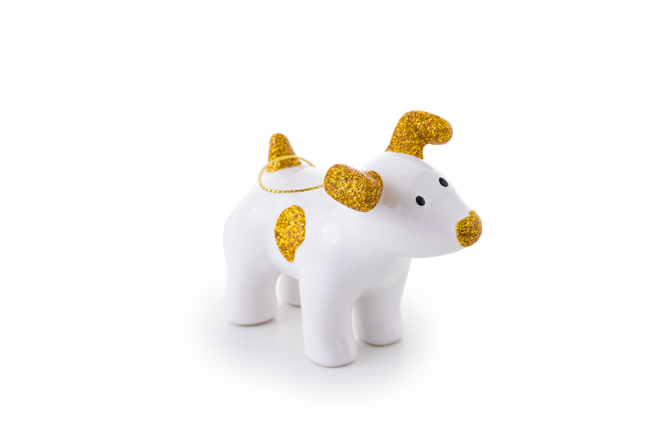 Snowdog Decoration - Sparky Gold