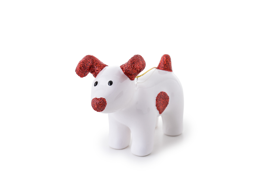 Snowdog Decoration - Sparky Red