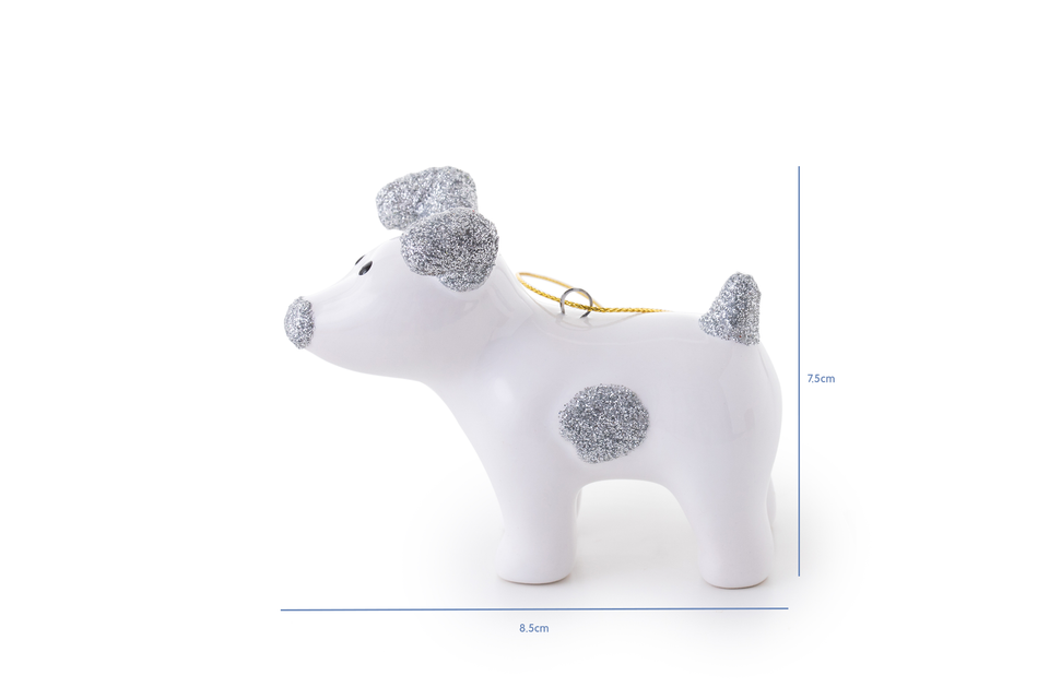 Snowdog Decoration - Sparky Silver