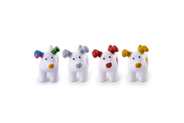 Snowdog Decorations - set of four