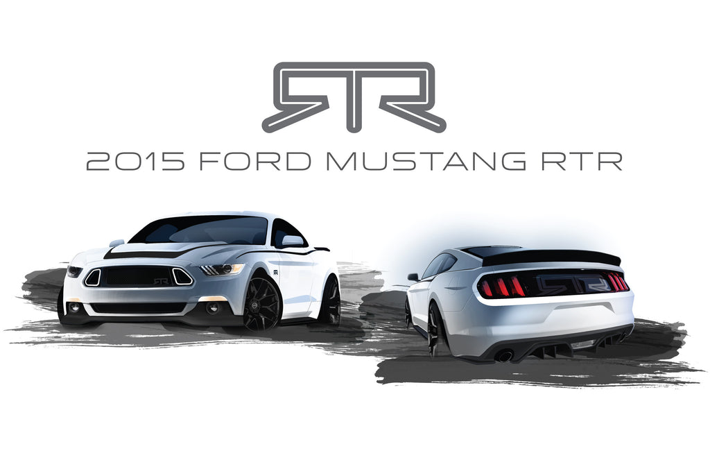 MUSTANG RTR AND VAUGHN GITTIN JR REVEAL TRUE-TO-FORM ARTIST RENDERINGS OF THE 2015 FORD MUSTANG RTR